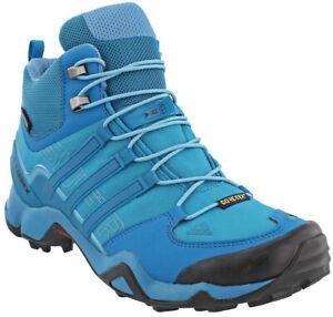 Détails sur Adidas Terrex Swift R Mid Bottes Bottes De Randonnée Bleu afficher le titre d'origine