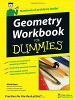 Geometry Workbook For Dummies By Mark Ryan, (paperback), For Dummies , New, Free on sale