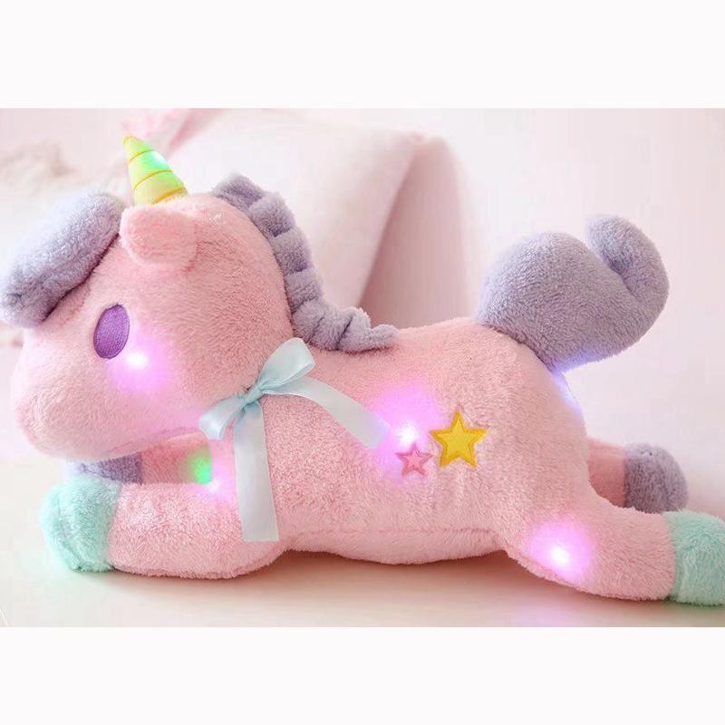 Luminous Led Light Stuffed Unicorn Plush Toy Soft Flashing Stuffed Animal Unicor
