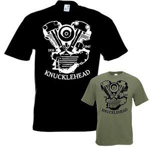 Bikershirt-KNUCKLEHEAD-Motorrad-t-shirt-Chopper-Bobber-Twin-Cam-Shovelhead