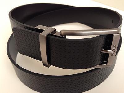 GUESS Men's Belt Reversible Buckle Black~Brown Size 32 34 36 38 40 42