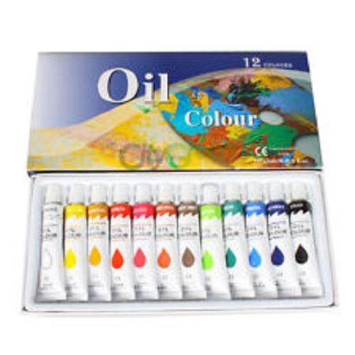 Painter's Supply 12 Colors Oil Paint Set 12 ml each Artists Rainbow Pigments