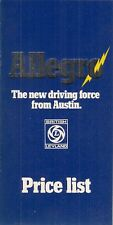 Austin Allegro Series 1 1973 UK Market Prices & Optional Extras Brochure