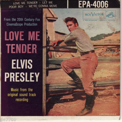 Elvis Presley Hound Dog 45rpm Original 1956 RCA Love Me Tender RCA EPA-4006