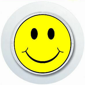 SMILEY FACE 90/'S ACID HOUSE CAR TAX DISC HOLDER REUSABLE PARKING PERMIT HOLDER