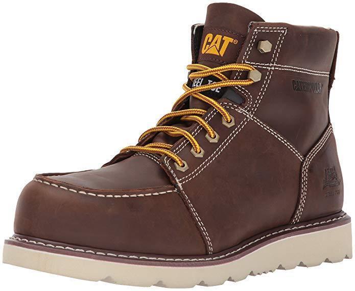 CATERPILLAR Hombres botas De Trabajo TRADESMAN Ancho Puntera De Acero, EH Antideslizante P90888