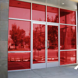 Red Window Tint >> Details About Red Window Film Window Tint Film Non Reflective House Window Sticker Multi Size