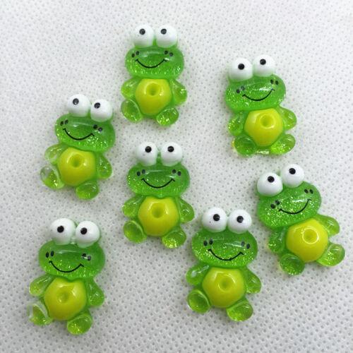 20//50 pcs16x24mm Frog Flatback Scrapbooking Resin Cabochons Crafts@@