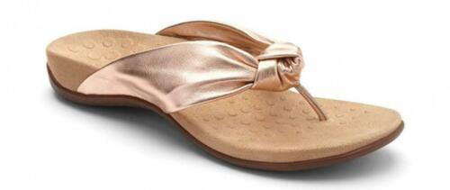 Vionic Women's Rest Pippa Toepost Sandals Ladies Leather Knot Flip Flops...
