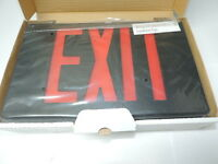 Case Of 6 Led Plastic Exit Sign 120/277 Black Red Letters 1 Or 2 Sided Dual Cir.
