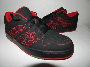 416be7a61b10 JORDAN Nu Retro 1 Low Size 10 Black Red 317163 064 with box