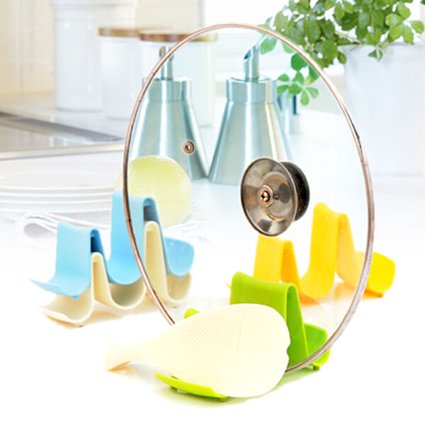 Designer Spoon Rest Pot Pan Lid Stand Brand New Kitchen Cooking Holder Tool TS