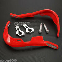 Pair Red 7/8 Offroad Dirtbike Atv Handguard For Yamaha Grizzly 660 700 Raptor