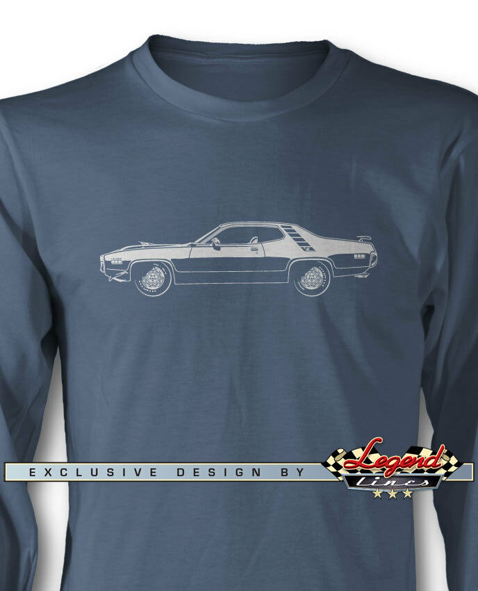 1971 Plymouth Road Runner 340 Coupe Long Sleeves T-Shirt - Multi colors & Sizes