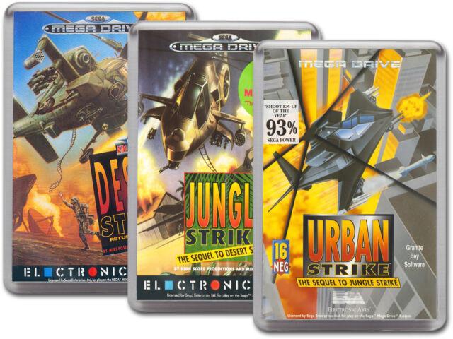 DESERT JUNGLE URBAN STRIKE COLLECTION Sega Megadrive Cover Art Fridge Magnet