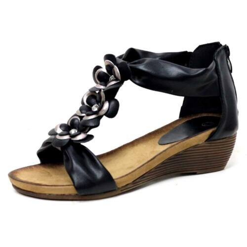 d06b3c9f9 2 of 12 Ladies Wedge Sandals Womens Heels New Fancy Summer Dress Party  Beach Shoes Size