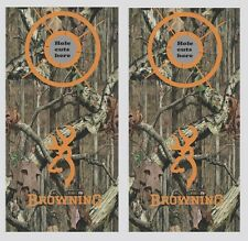 Deer Hunting Browning Cornhole Wrap Decals Bag Toss 3M Vinyl 24x48 Fast Shipping