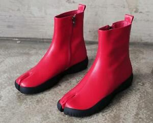 7962b84510 Fashion Women Booties Shoes Ridding Leather Split Toe Black Knight ...