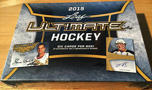 2015/16 Leaf Ultimate Hockey Hobby Box NHL 6 Cards Per Box Sealed Eichel Auto