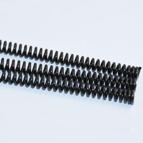 65 Mn Stahl Druckfedern Draht Durchmesser 0.3mm-2.0mm Schwarz Gesamt Länge 305mm