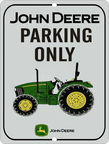 "JOHN DEERE Tractor Parking ONLY 9/"" x 12/"" Aluminum Sign"
