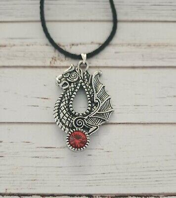 dragon silver necklace Odin Thor pagan viking alternative occult runes triquetra