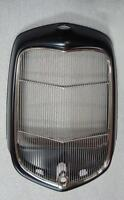 1932 Ford Hot Street Rod Steel Radiator Shell W/ Hole + Ss Grille Insert W Hole