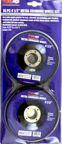 """10 Grip 4 1//2/"""" Metal Grinding Wheels #86275 NEW"""