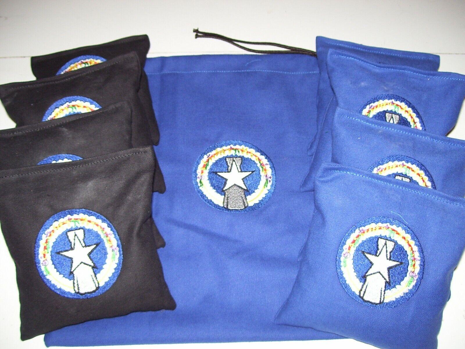Saipan Embroidered  Cornhole Corn Hole Bags Set of 8 w  Storage Bag  up to 60% discount