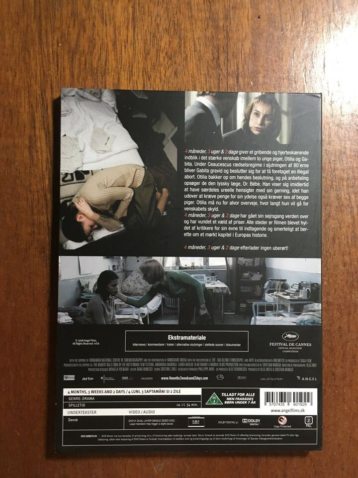 4 Måneder 3 Uger og 2 dage, instruktør Christian Mungiu, DVD
