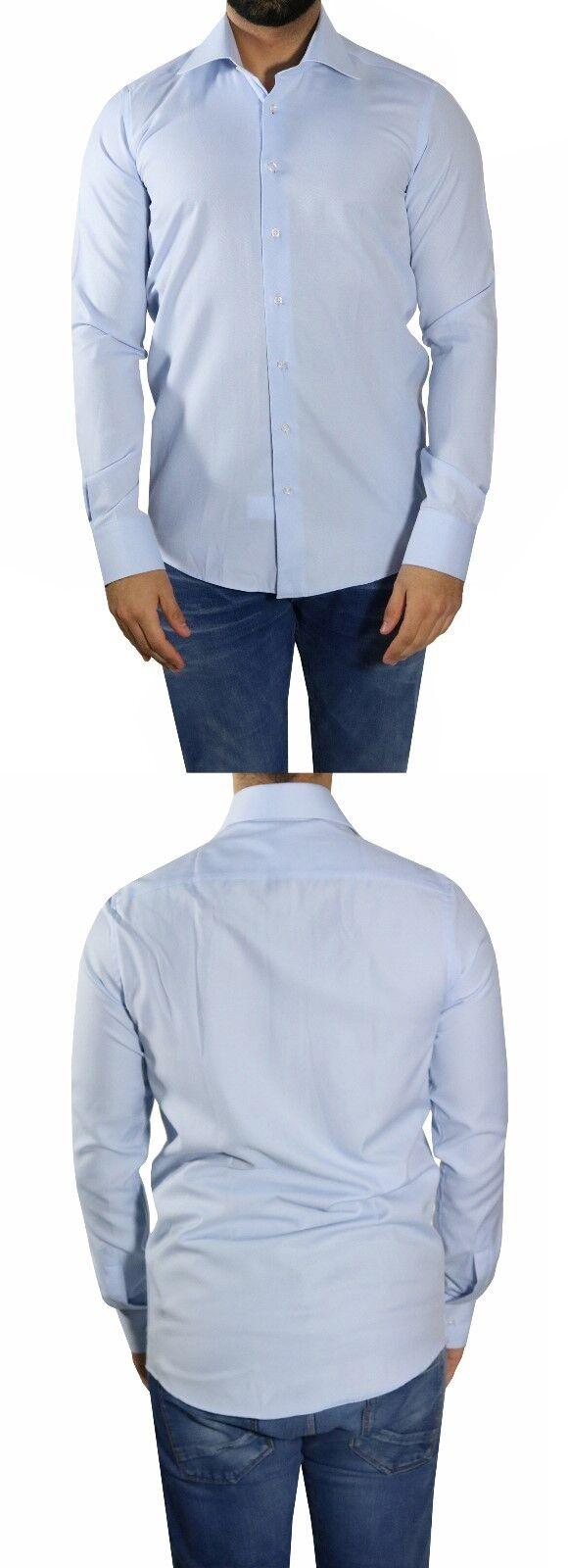 Slim-fit Hemd extra lange Ärmel Gr.4XL blue