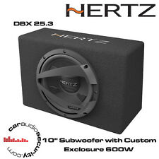 "Hertz DBX 25.3 - 10"" Car Subwoofer with Custom Box Exclosure 600W"