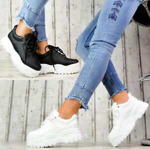 Neu XXL Plateau Sneaker Damenschuhe Designer METALLIC Plateauschuhe High Heels