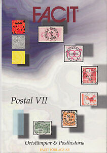 Facit-Postal-VII-Postal-History-Locals-amp-Cancels-of-Sweden-catalogue-NEW