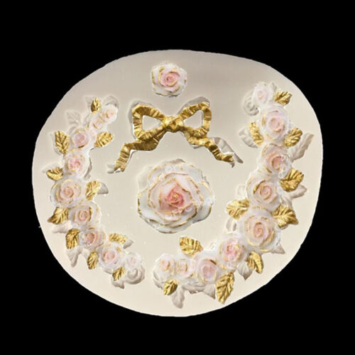 Flowers /&bow Fondant Form Kuchen Dekoration Backen Puderzucker Zucker PAL