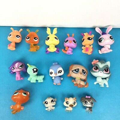 Lot 15 Authentic Littlest Pet Shop Baby Mini Cat Dog Rabbit Caterpillar Lps Set Ebay