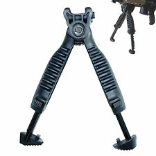Adjustable Tactical Vertical Fore Hand Grip Bipod Picatinny Rail Rifle Weaver #7