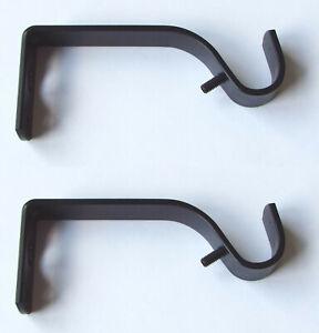 1 Paar Metall Wandhalter Einlageträger messing antik für 16 mm Gardinenstange