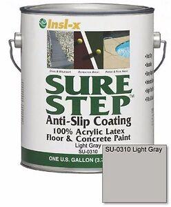 Light Gray Acrylic Anti Slip Concrete Floor Paint 1 Gallon Interior Exterior Ebay