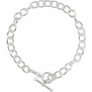 9mm STERLING SILVER TOGGLE CHAIN BRACELET OR NECKLACE BAR JEWELLERY CLASP