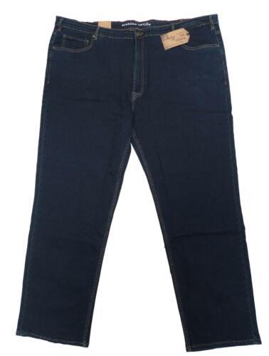 NUOVO MISURE GRANDI fantastiche Uomo Jeans Stretch Pantaloni Blue Stone inchgr .50 32 52 l30
