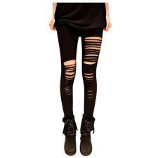 PunkJewelry Fashion Tattoo Leggings Ripped ZERRISSEN Look EINHEITSGRÖSSE