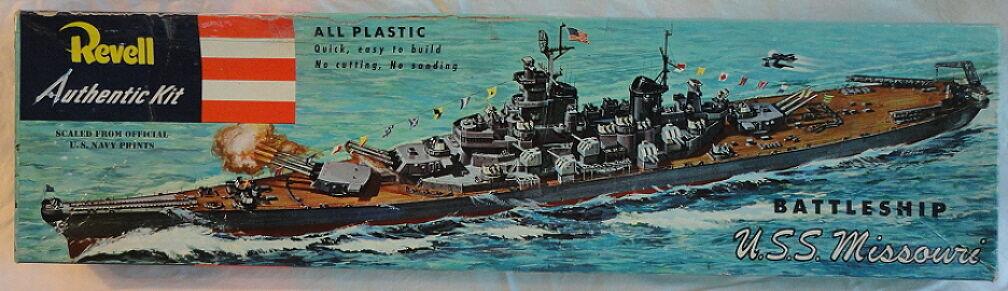 USS Missouri Battleship Revell 3rd Issue Box 1953 H-301 198 As Found Ship Mod