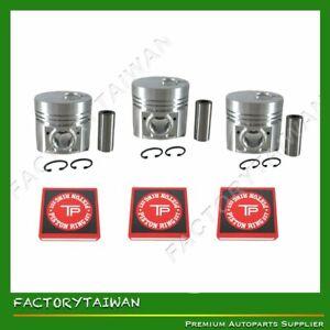 Factorytaiwan Piston + Ring Kit Set STD for ISUZU 3KR1  X 3 PCS