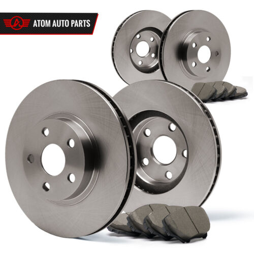 2004 Fits Nissan Maxima Rotors Ceramic Pads F+R OE Replacement