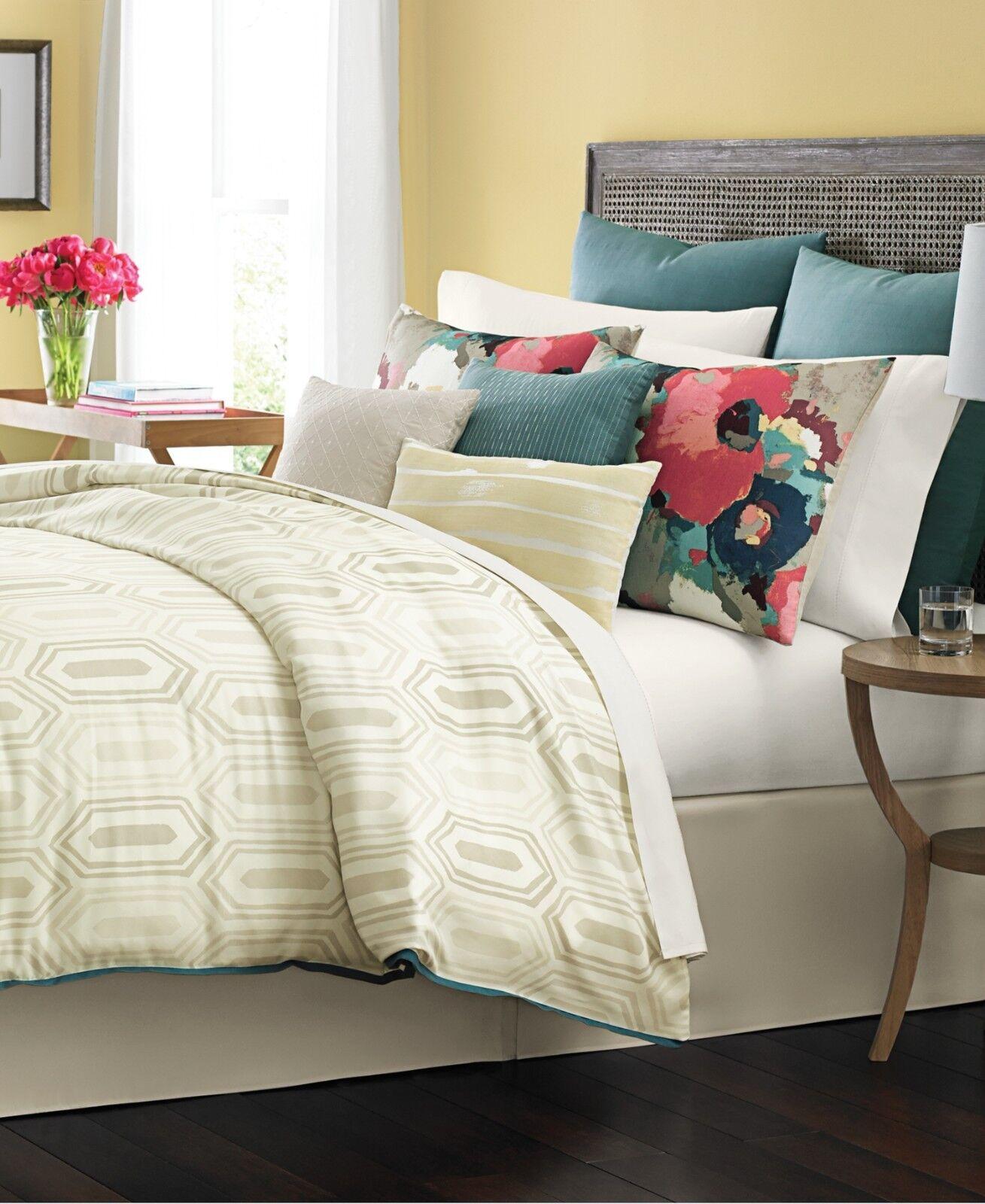 Martha Stewart Bedding Ellington 10-Pc CAL KING Comforter Set Beige F522