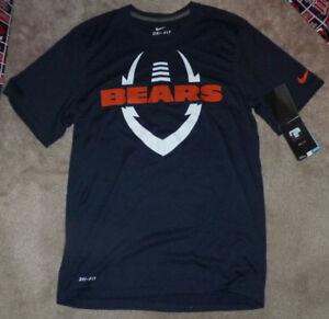 cf41616112 NEW NIKE Chicago Bears Football T Shirt Dri Fit Men S Small NEW NWT ...