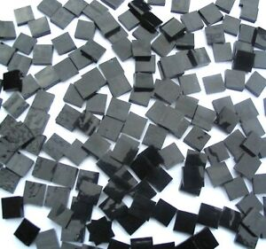 100 BLACK MOSAIC tiles 1cm x 1cm Arts & Crafts Scrapbooking