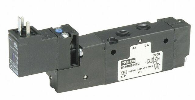 Parker L6658922149 Solenoid Air Valve 3 Position1 NPT