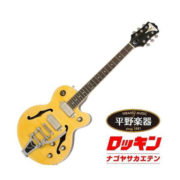 Epiphone Wildkat Bigsby Antique Natural beutiful JAPAN rare useful EMS F/S*